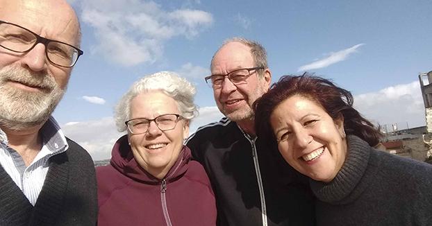 Volontärer i Jerusalem med Lars-Inge och Hania
