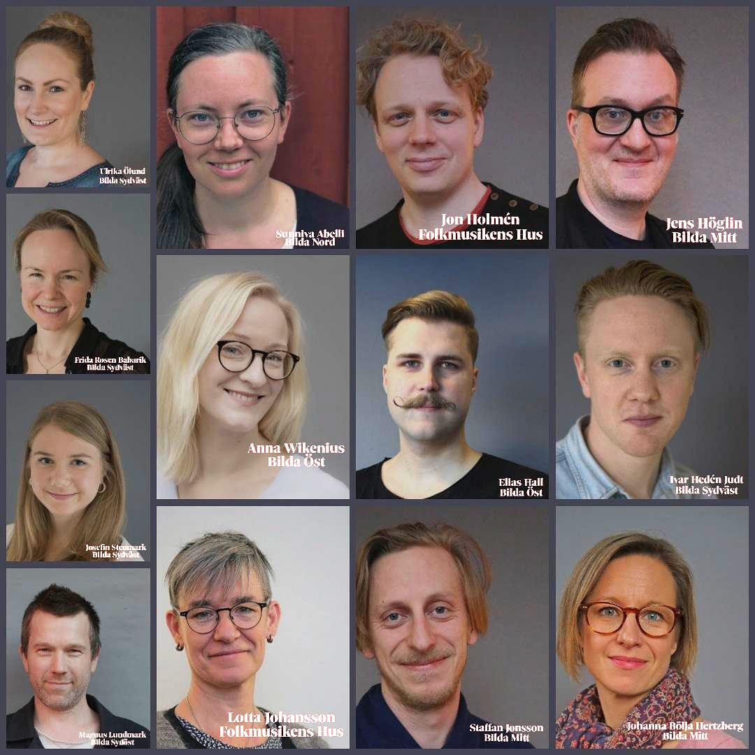 Bildkollage på all personal som jobbat med digistämman