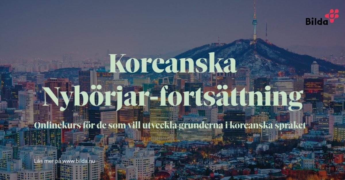 Online: Koreanska för nybörjare – fortsättning