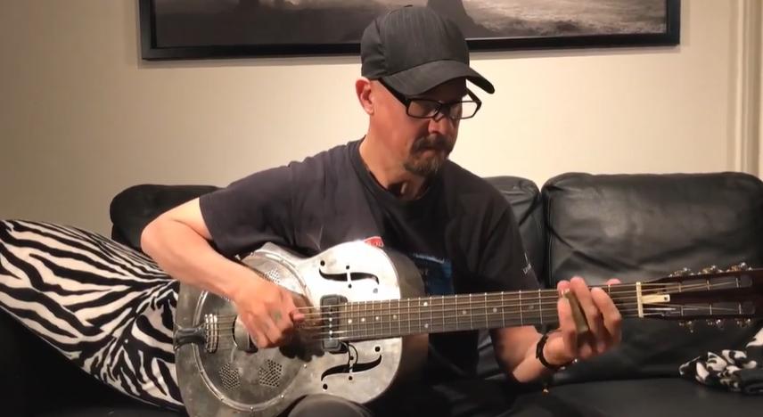 Slidegitarr med Anders