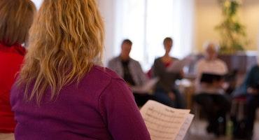 Körsång med GSGC och Väskinde Gospel